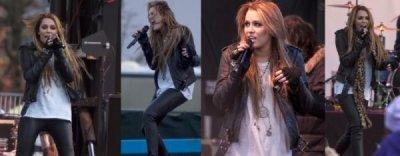 Miley a donné hier (20 novembre) un concert en plein air à l'occasion de l'ouverture d'un magasin Microsoft à Bellevue (Washington). Elle a chanté 6 chansons « Can't Be Tamed », « Robot », « The Driveaway », « Jolene » (reprise d'une chanson de sa marraine Dolly Parton), « Who Owns My Heart » et « The Climb »