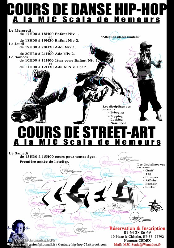 Nouvelle année pour des cours tout hip-hop. Danse et Street-art