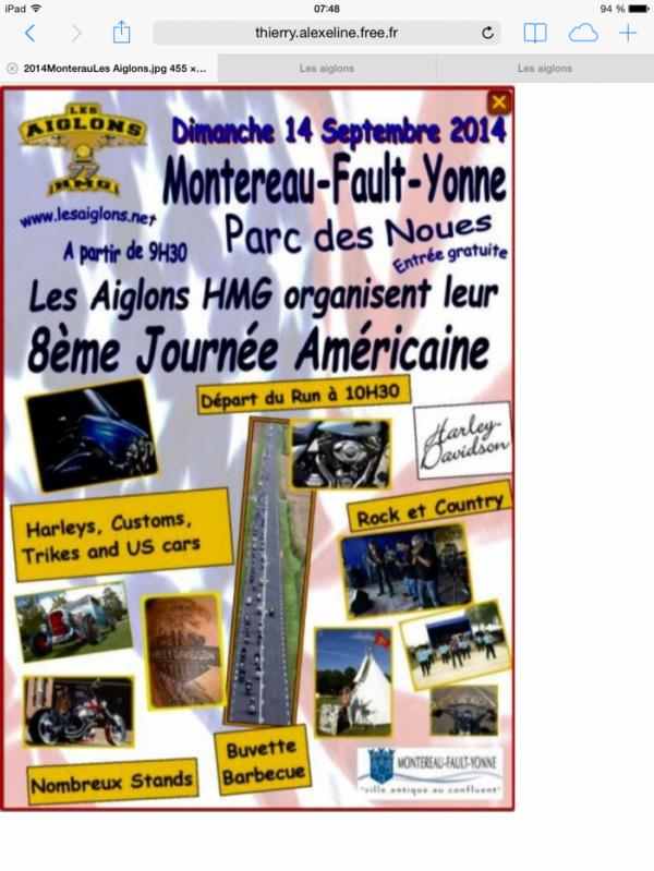 LES  AIGLONS  LE  14  SEPTEMBRE  2014  A  MONTEREAU - FAULT - YONNE 77