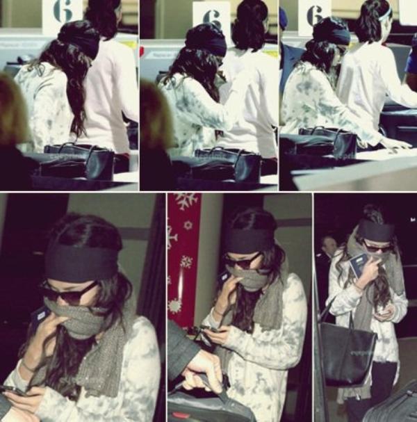 03/01/13 - Selena à été vue à l'aéroport de LAX à Los Angeles