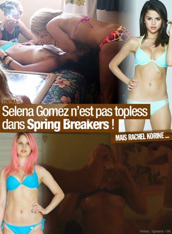 Selena Gomez n'est pas topless dans Spring Breakers !