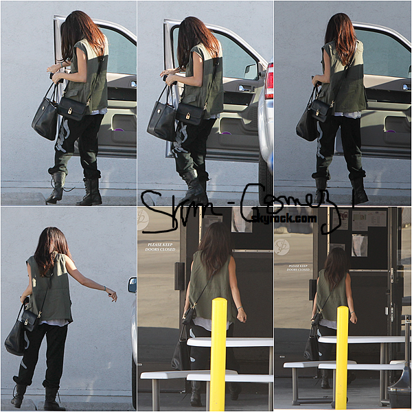 10/04/13 - Selena à été aperçu à L.A pour répéter au spectacle de MTV Movie Awards !