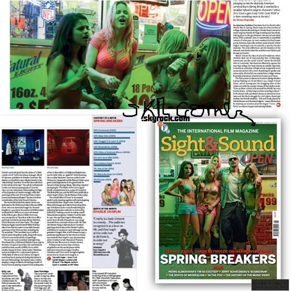 1 = Selena avec les fans. La deuxième date du concert de Rihanna, tandis que le première a été fait dans les derniers jours. 2 = Quand Selena est apparu sur Radio Disney, elle a commencé à faire la même image. 3 = Scans de la revue Sight & Magazine Sound, qui parle du film Spring Breakers.