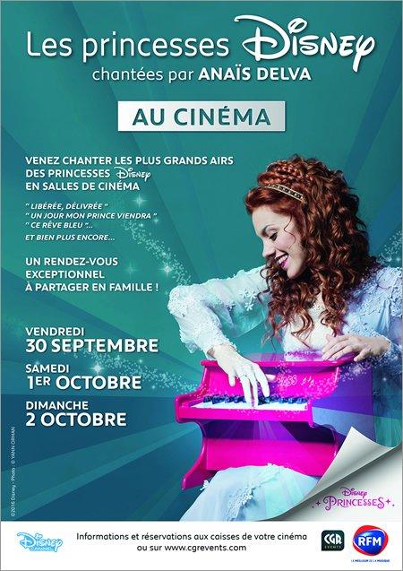 Anaïs Delva chante Les Princesses Disney : au cinéma du 30 septembre au 2 octobre