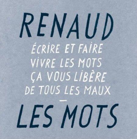 """""""Les Mots"""" le nouveau single de Renaud"""