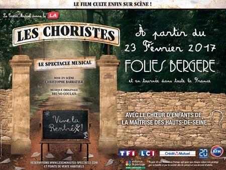 """""""Les Choristes le spectacle musical"""" aux Folies Bergère en 2017"""