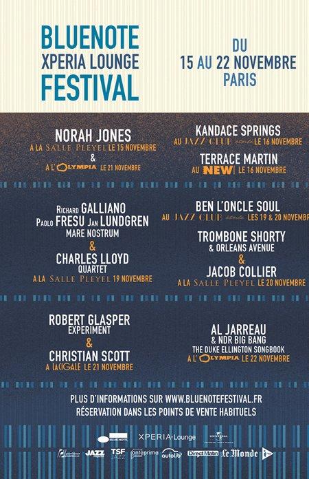 Blue Note Xperia Lounge Festival du 15 au 22 novembre à Paris