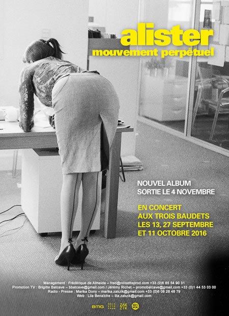 """Alister publiera """"Mouvement perpétuel"""", son troisième album, le 4 novembre prochain"""