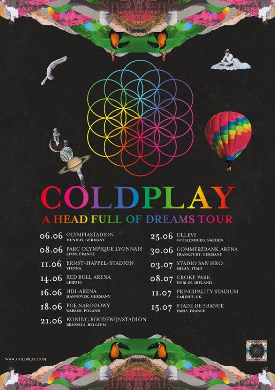 Coldplay annonce deux concerts en France en 2017