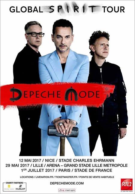 Depeche Mode annonce 3 concerts en France en 2017