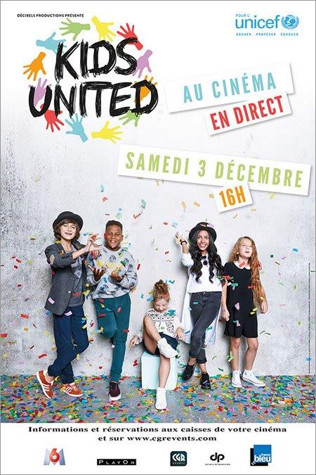 Le concert des Kids United en direct au cinéma le 3 décembre 2016