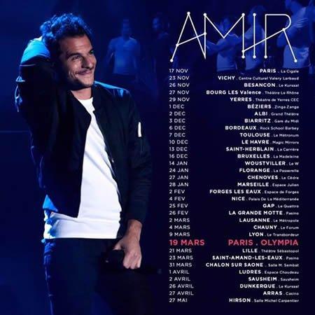 Amir en concert à l'Olympia le 19 mars 2017