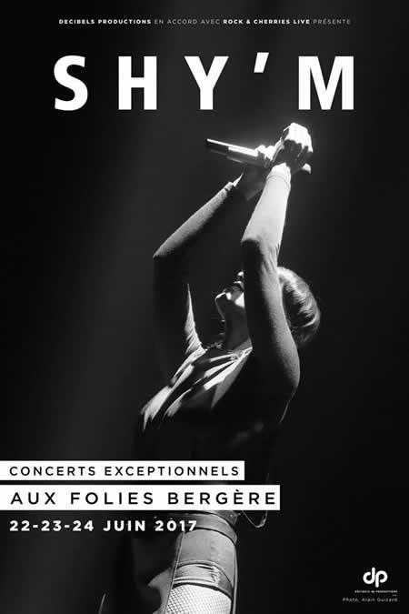 Shy'm en concert aux Folies Bergère à Paris en juin 2017
