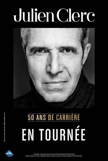 Julien Clerc : premières dates de la tournée de ses 50 ans de carrière
