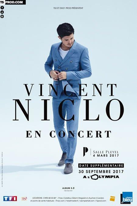 Vincent Niclo à l'Olympia à Paris le 30 septembre 2017