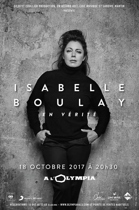 Isabelle Boulay annonce la sortie de son nouvel album et un concert à l'Olympia