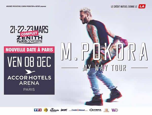 M Pokora en concert à l'AccorHotels Arena à Paris le 8 décembre 2017