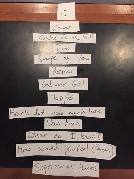 Ed Sheeran dévoile le tracklisting de son nouvel album