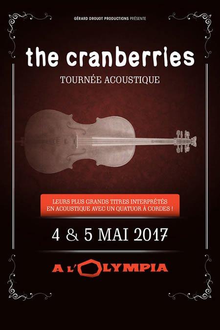 The Cranberries à l'Olympia les 4 et 5 mai 2017 et en tournée