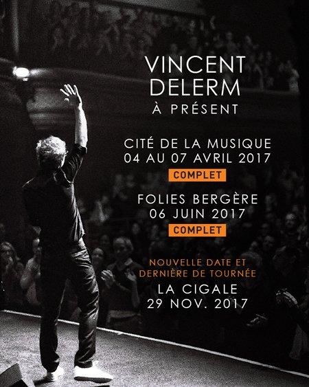 Vincent Delerm à la Cigale à Paris le 29 novembre 2017