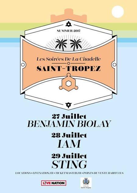 Programmation des Soirées de la Citadelle de Saint-Tropez 2017