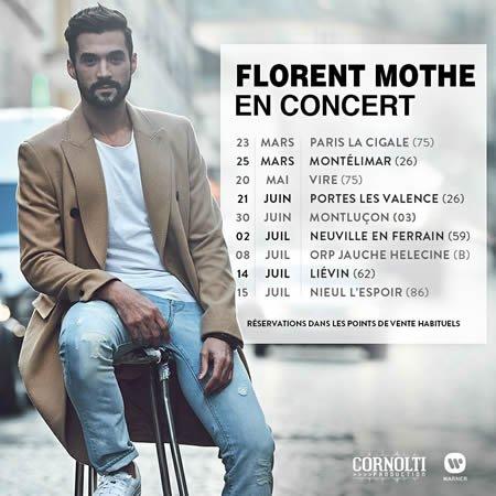 Premières dates de la tournée 2017 de Florent Mothe