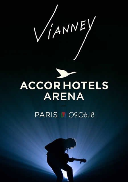 Vianney en concert le 9 juin 2018 à l'AccorHotels Arena de Paris