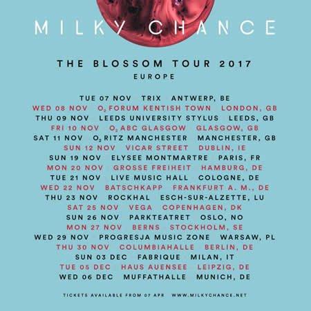 Milky Chance en concert le 19 novembre 2017 à l'Elysée Montmartre