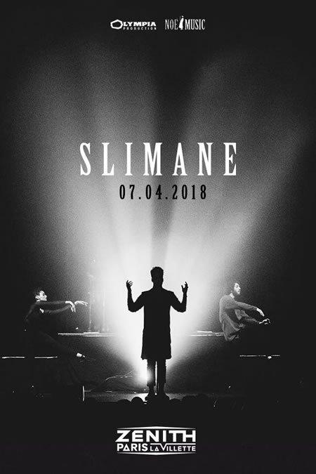 Slimane en concert au Zénith de Paris le 7 avril 2018