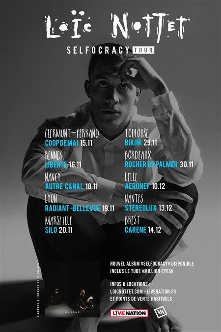Premières dates de la tournée française de Loic Nottet