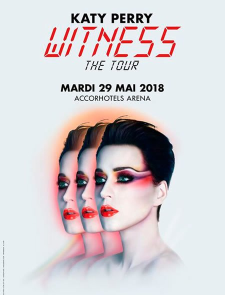 Katy Perry à l'AccorHotels Arena le 29 mai 2018