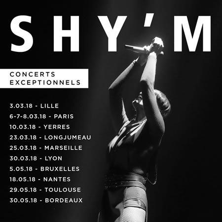 Shy'm annonce les nouvelles dates de sa tournée pour 2018