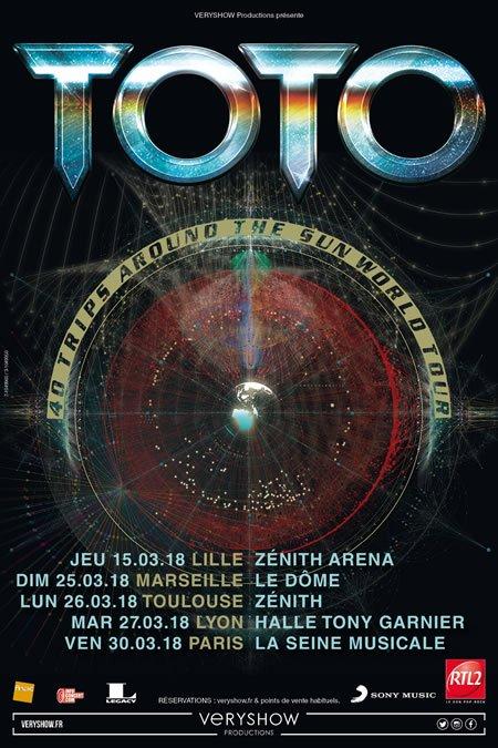 TOTO en tournée en France en 2018