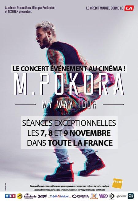 M Pokora My Way Tour au cinéma du 7 au 9 novembre 2017