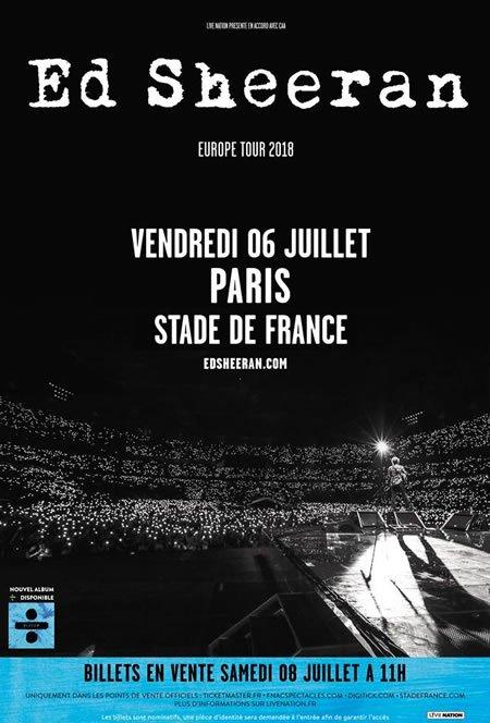 Ed Sheeran au Stade de France le 6 juillet 2018