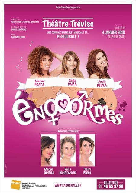 """""""Enooormes"""" au Théâtre Trévise dès le 4 janvier 2018"""