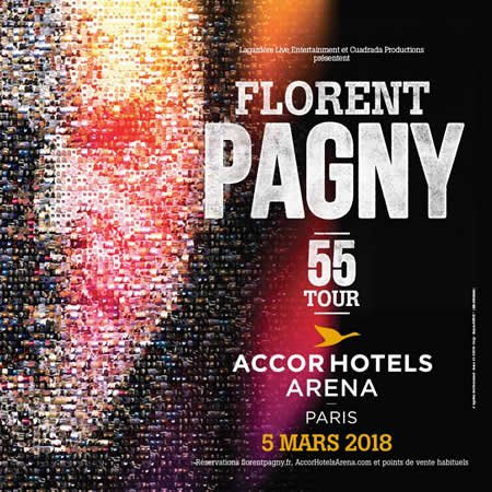 Florent Pagny 55 Tour le 5 mars 2018 à l'AccorHotels Arena à Paris