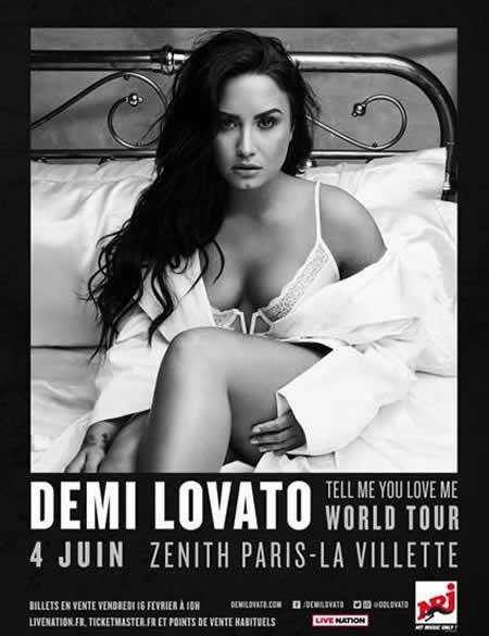 Demi Lovato au Zénith de Paris le 4 juin 2018