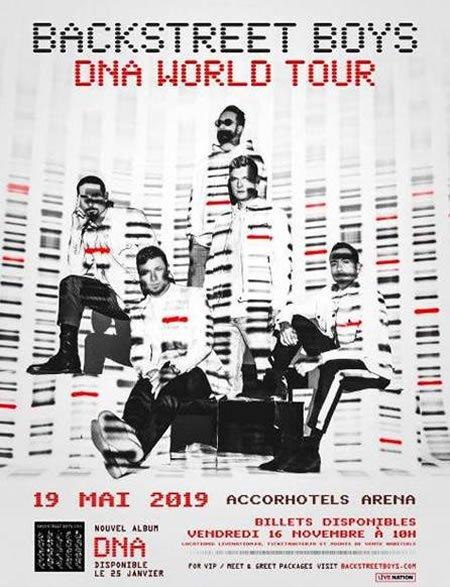 Backstreet boys en concert à l'AccorHotels Arena à Paris le 19 mai 2019