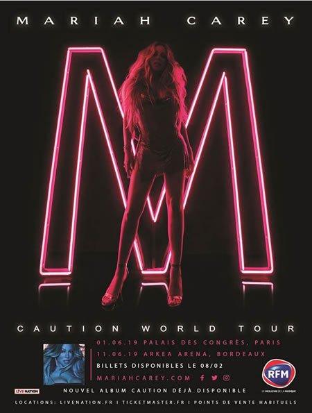 Mariah Carey annonce deux concerts en France en juin 2019