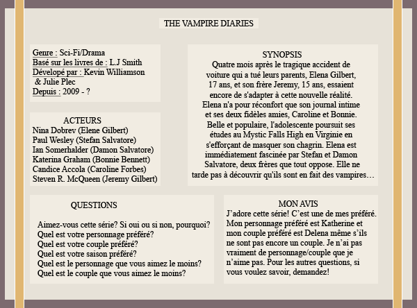 « Article #2 - The Vampire Diaries »