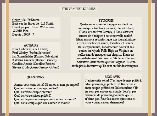 « Article #2 - The Vampire Diaries »