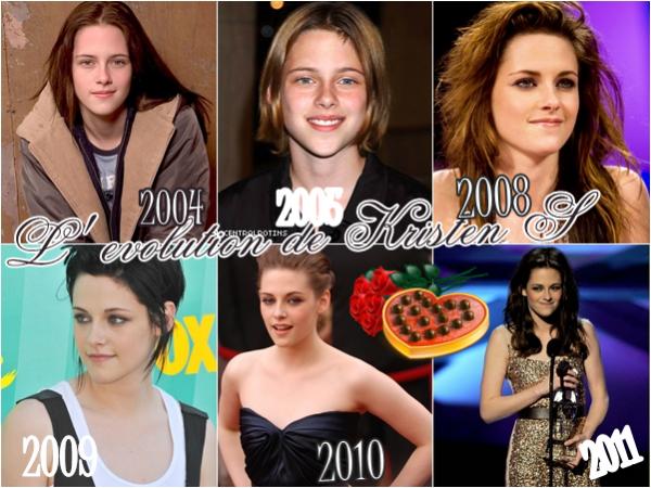L'evolution de Kristen Stewart .