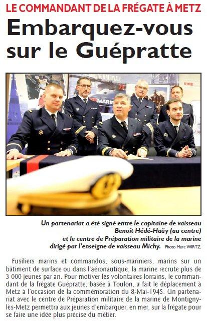 Parrainage PMM METZ - Frégate Guépratte
