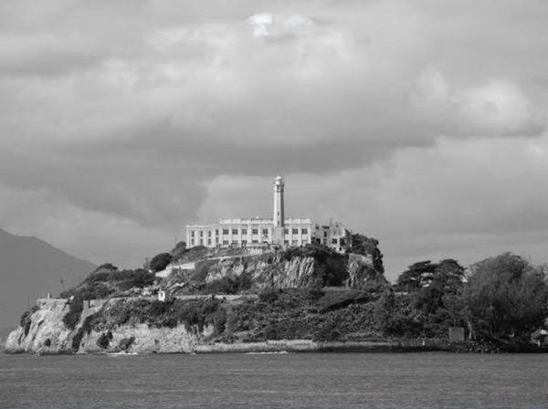 La prison d'Alcatraz, Baie de San Francisco.
