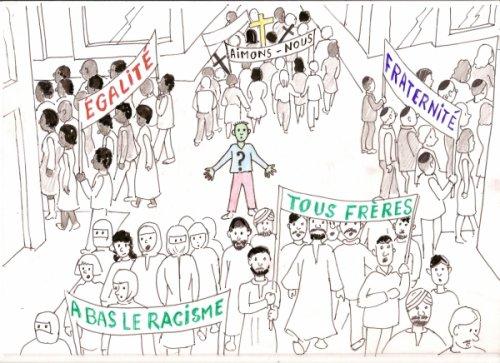"""N'ayez d'intolérance que vis-à-vis de l'intolérance.           Ne chercher ce qui nous sépare, trouver ce qui nous rassemble.                """"Si tu es neutre en situation d'injustice alors tu es du coté de l'oppresseur."""""""
