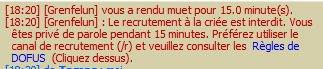 Le recrutement à la criée est interdit ! :(