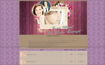 new design du forum officiel de Claire Conruyt