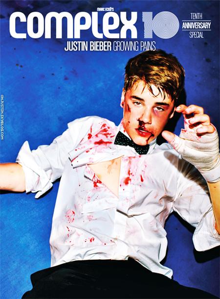 EVENTS Pour les 10 ans du magasine «Complex », Justin s'impose sur le ring SPALSH !