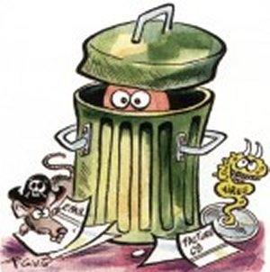 Voici une poubelle